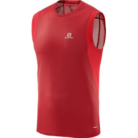 Salomon Trail Runner Sleeveless Tee Men barbados cherry